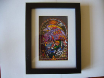 Legend of Zelda Helmaroc Stained Glass 3D Diorama Shadow Box